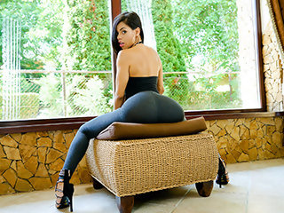Beautiful Latina Shows Us Her Positions